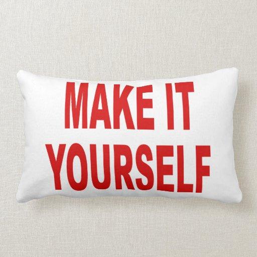 DIY Create Your Own Made in the USA Lumbar Pillow