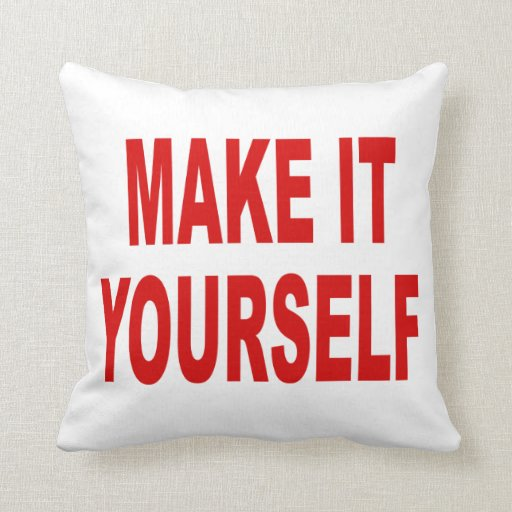 DIY Create Your Own Made in the USA Throw Pillow
