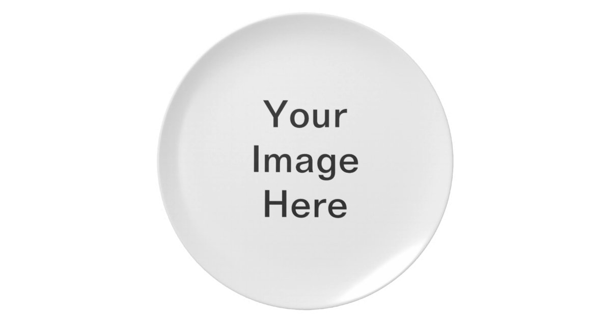 DIY Create Your Own Melamine Plate Small A05. | Zazzle.com