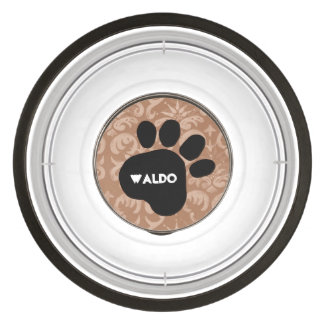 DIY Create Your Own Paw Print Pattern V04F Bowl