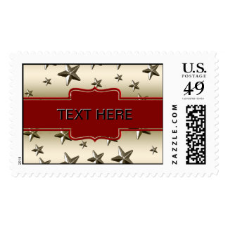 DIY Create Your Own Personalized Gold Stars Postage