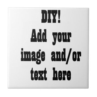 DIY Create Your Own Photo Party Item A02 Ceramic Tile