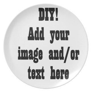 DIY Create Your Own Photo Party Item A02 Dinner Plate