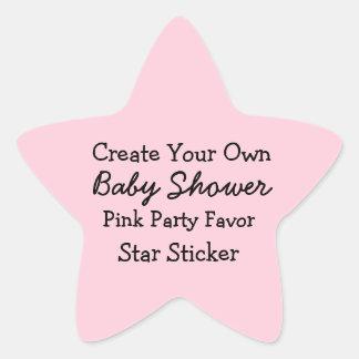 DIY Create Your Own Pink Baby Shower Favor Sticker
