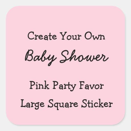 diy create your own pink baby shower favor sticker zazzle