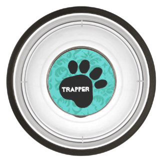 DIY Create Your Own Pink Paw Print Pattern V04A Pet Bowl