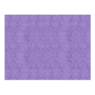 DIY Create Your Own Purple Wedding Damask Postcard