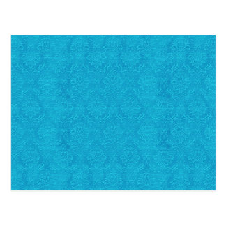 DIY Create Your Own Turquoise Blue Wedding Damask Postcard