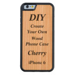 DIY Create Your Own Wood Case iPhone 6 V02 Carved® Cherry iPhone 6 Bumper Case