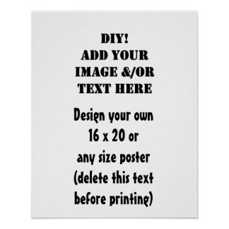 DIY Create Your Personal Zazzle Poster