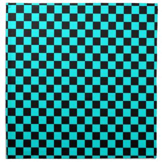 DIY cualquier color/a cuadros azul de la Servilleta