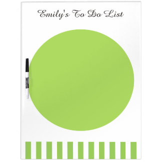 DIY Custom Color and Text Modern Home A4 GREEN Dry-Erase Board