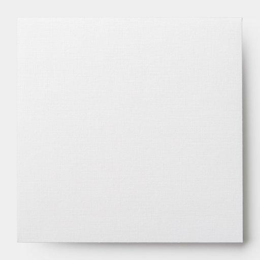DIY Custom Emerald & Cream Linen Wedding Envelope