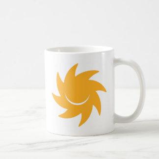 DIY Custom Logo Smiling - Happy Yellow Sun Shining Coffee Mug