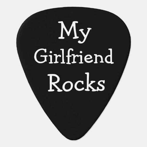 DIY custom Personalized My Girlfriend Rocks Guitar Pick