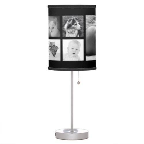 Custom Photo Template with 9 Pictures Table Lamp