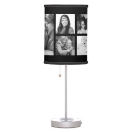 DIY Custom Photo Template with 9 Pictures Table Lamp