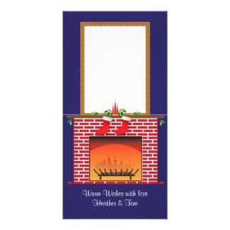 DIY custom pop-up Fireplace & 2 Stockings Card