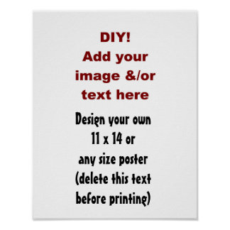 DIY Custom Poster You Design Yourself