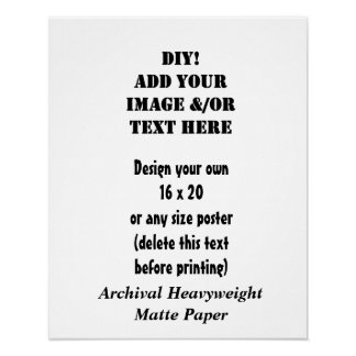 Do it yourself posters zazzle diy custom size archival heavyweight matte paper poster solutioingenieria Image collections