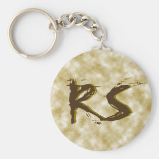 DIY CUSTOM VINTAGE SAND COFFEE STAIN WRITE WORDS KEYCHAIN