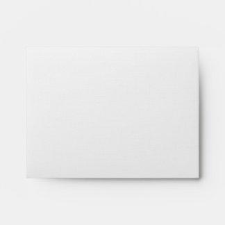 DIY Custom Yellow & Blue Linen Wedding Envelope