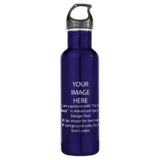 DIY / Customize this Cobalt Blue Stainless Steel Water Bottle