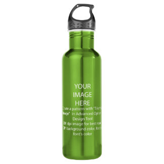 DIY / Customize this Electric Green Water Bottle
