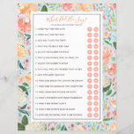 """DIY Customize Your Bridal Shower Game with Photo<br><div class=""""desc"""">This bridal shower template features the &quot;what did he say about his bride&quot; game, with 16 editable yes or no questions. Optional photo on the back side. Personalize all of the text, even remove the &quot;Y&quot; and &quot;N&quot; circles to make a fill in the blank version of any game. Once...</div>"""
