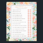 """DIY Customize Your Bridal Shower Game with Photo Flyer<br><div class=""""desc"""">This bridal shower template features the &quot;what did he say about his bride&quot; game, with 16 editable yes or no questions. Optional photo on the back side. Personalize all of the text, even remove the &quot;Y&quot; and &quot;N&quot; circles to make a fill in the blank version of any game. Once...</div>"""