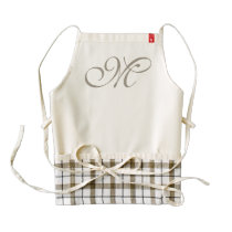 DIY - Customize your monogram & ideas Zazzle HEART Apron