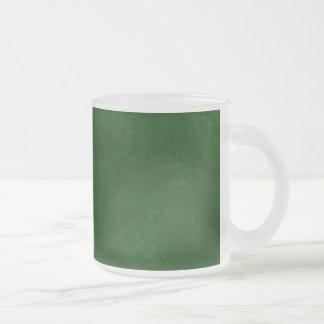 DIY Dark Green Background Custom Home Gift Idea Frosted Glass Coffee Mug
