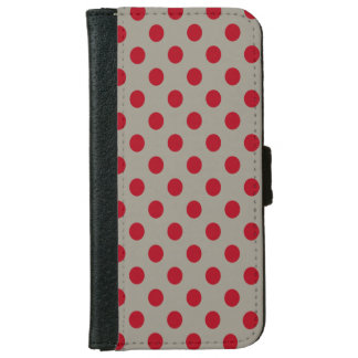 DIY Dark Red Polka Dots on Any Color iPhone 6/6s Wallet Case