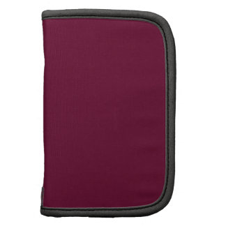 DIY Deep Burgundy Pop of Color You Personalize It Folio Planner