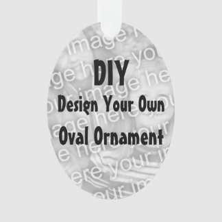 DIY Design Your Own Acrylic Ornament OVAL v3