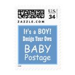DIY Design Your Own Baby Postage BLUE V01 Stamps