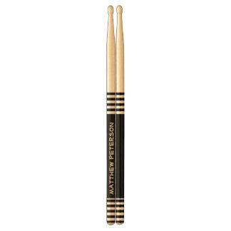 DIY Design Your Own Black Stripes Custom Name V06 Drumsticks