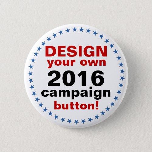 DIY Design Your Own Campaign blue stars Button