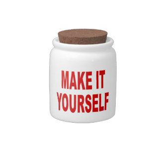 DIY Design Your Own Cork Top Candy Jar