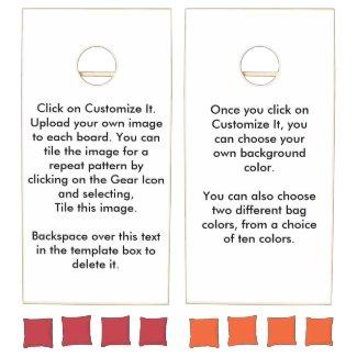 DIY Design Your Own Cornhole Boards Cornhole Set