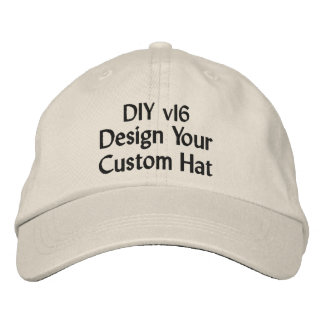 DIY Design Your Own Custom Baseball Hat V16A