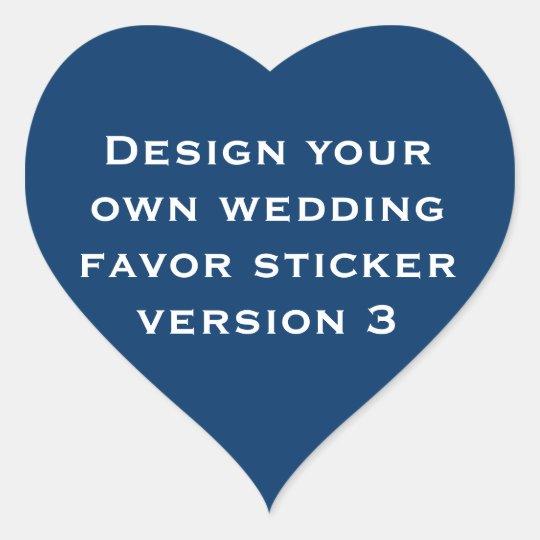 DIY Design Your Own Custom Color Wedding Verson 3 Heart Sticker
