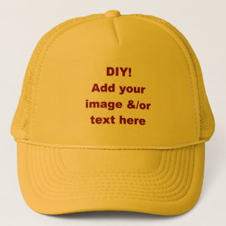 DIY Design Your Own Custom Gift H001B Trucker Hat