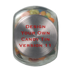 DIY Design Your Own  Custom Wedding Favor V12 Jelly Belly Candy Jars at Zazzle