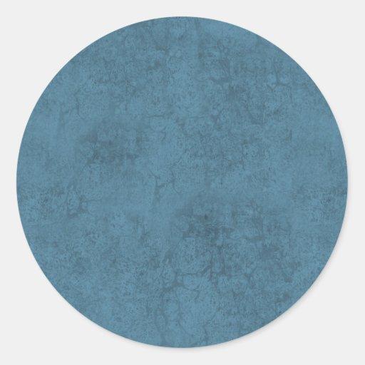 DIY Design Your Own DENIM BLUE Marble Effect V04 Classic Round Sticker