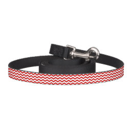 DIY Design Your Own Dog Leash Red White Chevron