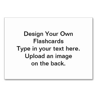 DIY - Design Your Own Flashcards Table Card
