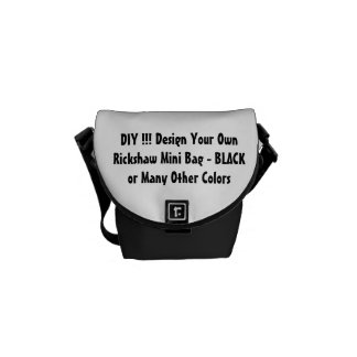 DIY Design Your Own Gift BLACK or Other Colors Courier Bag