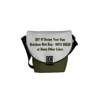 DIY Design Your Own Gift GREEN or Other Colors Courier Bag