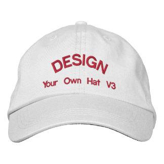 DIY Design Your Own Hat V3 RED Thread